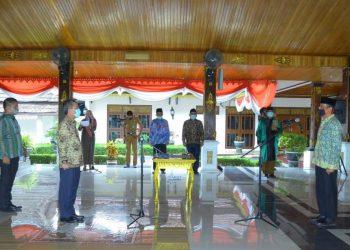 Foto Saat  Pelantikan PJ Sekda Batanghari oleh Bupati Batanghari, Foto : (Diskominfo Batanghari)