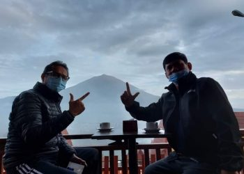 Ngopi Bareng Di Kerinci, Safril Nursal dan Irwan Prayitno Ngobrol Pilkada Dan Pariwisata Jambi-Sumbar