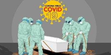 Ilustrasi Meninggal Dunian Covid-19