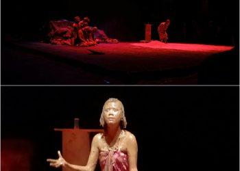 Aksi Panggung Sanggar Batin Penghulu di Bawah Asuhan Febra Moyu di Taman Budaya Jambi Dalam Rangka Dalam Rangka Temu Teater Se Sumatera